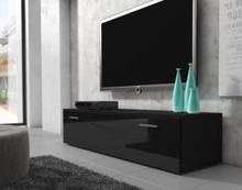 BOSTON TV-stall TV-Bank 150 cm matt ram Svart / Framsida Svart Hogglans