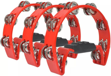 vidaXL Uppsättning tamburiner 3 st plast röd