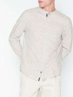 River Island Ls Hbone Melange Skjorter Grey