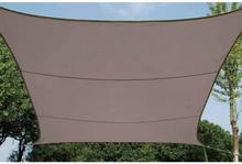 Perel Aurinkopurje neliönmuotoinen 3 6 m ruskeanharmaa GSS4360TA