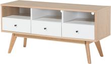 TV-bord Hvid/Lysebrun TUCSON