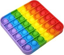 Pop It - Bubble - Fidget Toy: Kendt fra TikTok (Se video) - FIRKANT RAINBOW MODEL