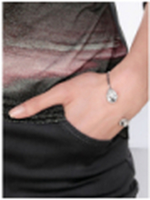 Armband kristallen Van mayfair by Peter Hahn zilverkleur