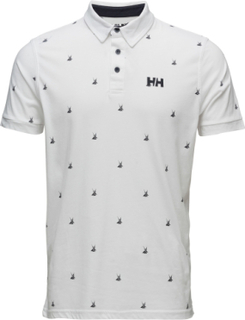 Fjord Polo Polos Short-sleeved Hvid Helly Hansen