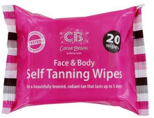 Cocoa Brown Face & Body Self Tanning Wipes 20 st