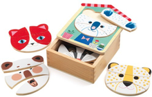 Djeco - Wooden Puzzle - Face-Mix