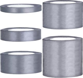 Satinband, Grå - 50 mm