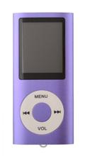 Slim MP3-afspiller med FM-radio-support - Lilla