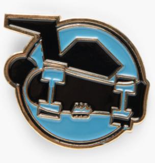 Stussy - Skate Man Pin - Blå - ONE SIZE