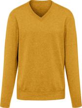 V-ringad tröja i 100% kashmir i Premium-kvalitet m från Peter Hahn Cashmere gul
