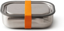 Matlåda i rostfritt stål 3-i-1 - Orange, 1 L