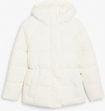 Hooded puffer jacket - White