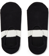 N/A - Striped Cotton-blend No-show Socks - Black