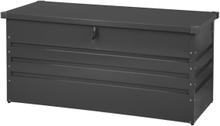 Pehmustelaatikko teräksinen grafiitinharmaa 132x62 cm CEBROSA