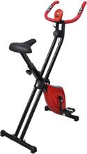 vidaXL X-Bike motionscykel magnetiskt motstånd puls svart och röd