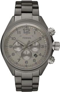Fossil Fossila Mens Watch flyg rök Chronograph CH2802 rostfritt stål