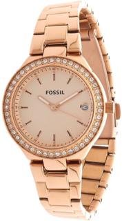 Fossil Fossila damer Designer klocka Rose Gold Classic tydlig urtav...