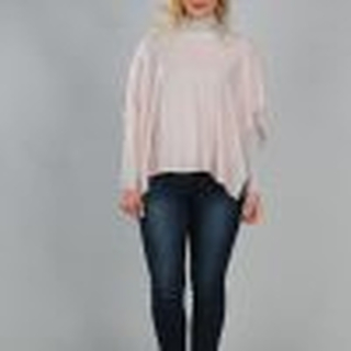 T- Shirt Poncho light pink