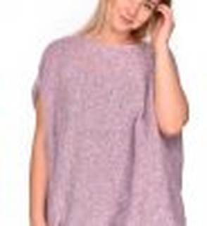 Oversized Winter Cardigan pink mellange