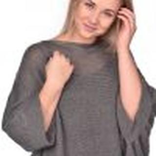 Oversized Winter Cardigan grey/brown