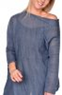 Asymmetrical cardigan/ sweater blue