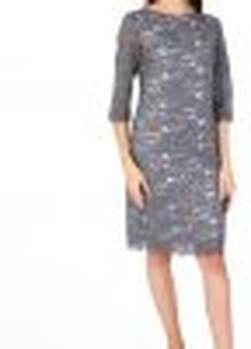 Katrin Steel Grey Lace Dress