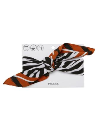 PIECES Zebra Printed Square Scarf Women Black