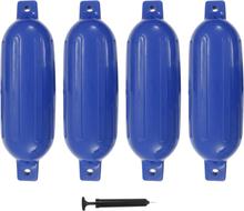 vidaXL Båtfender 4 st blå 58,5x16,5 cm PVC