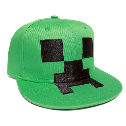 Minecraft Baseball Cap Creeper ansigt nye officielle Gamer grøn sna... - Fruugo
