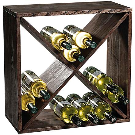Vinställ GAVI mörkbetsad furu ca 24 flaskor