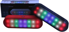 Mini højttaler med LED-lys og Bluetooth