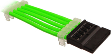 Sleeved SATA Power Extension cable - Green