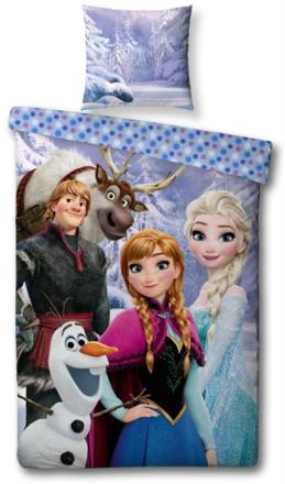 Frozen sengetøj - 140x200 cm i 100% bomuld - Frost Disney sengetøj - Rigtig prinsesse sengesæt - shopdyner