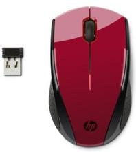 HP HP X3000 Trådlös mus, Sunset Red