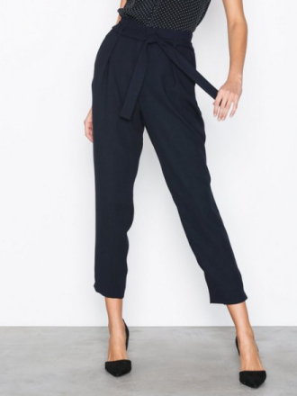 River Island Tie Waist Tapered Trouser