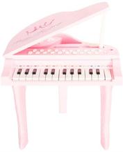 Legetøjs piano - 30 cm høj - lyserød med mange musikfunktioner