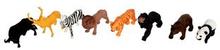 Legetøjs dyr - vilde dyr 8 forskellige slags