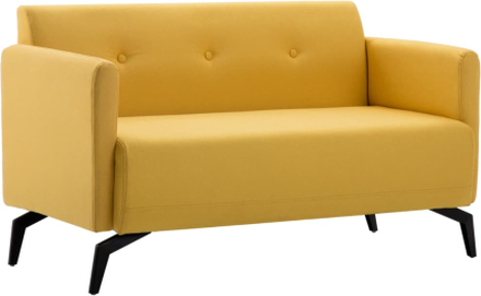 vidaXL 2-sitssoffa med tygklädsel 115x60x67 cm gul