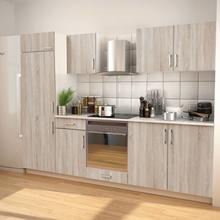 vidaXL 7 delars köksskåp set med köksfläkt ekimitation