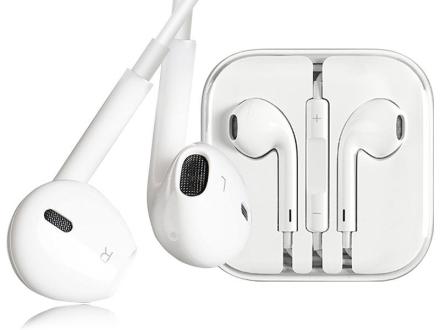 Oryginalne słuchawki Apple EarPods MD827ZM/A z pilotem i mikrofonem