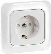 Schneider Electric Vägguttag Eljo Trend 1-V Inf Jordad Polarvit Skruv Blister
