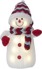 Star Trading Hängande Dekorationsfigur Joylight Snögubbe-Röd