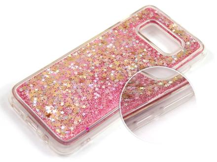 Etui liquid glitter Samsung Galaxy S8 brokat różowy