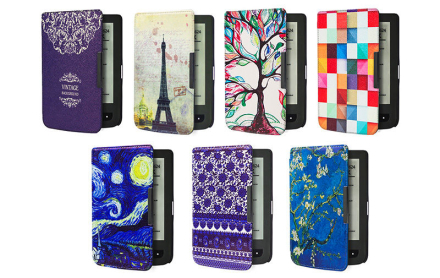 Etui do Pocketbook 624/614/626 Touch Lux 2 i 3 Niebieskie wzorki