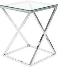 Sivupöytä lasinen hopeisella rungolla BEVERLY