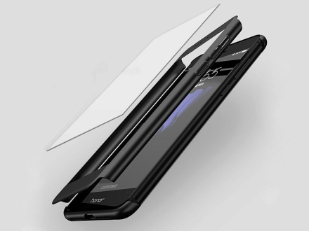 Etui 360 full case do Huawei P8 P9 Lite 2017 złote + szkło