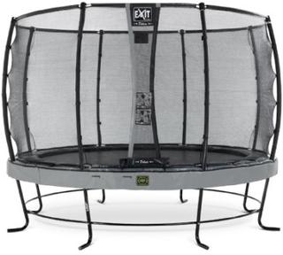 EXIT Trampolin Elegant Premium diameter 427cm med Deluxe sikkerhedsnet - grå