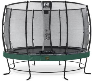 EXIT Trampolin Elegant Premium diameter 427cm med Deluxe sikkerhedsnet - grøn