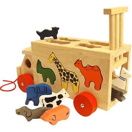 Bigjigs trælegetøj dyr form vogn - Fruugo