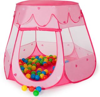 Barntält med 100 bollar rosa